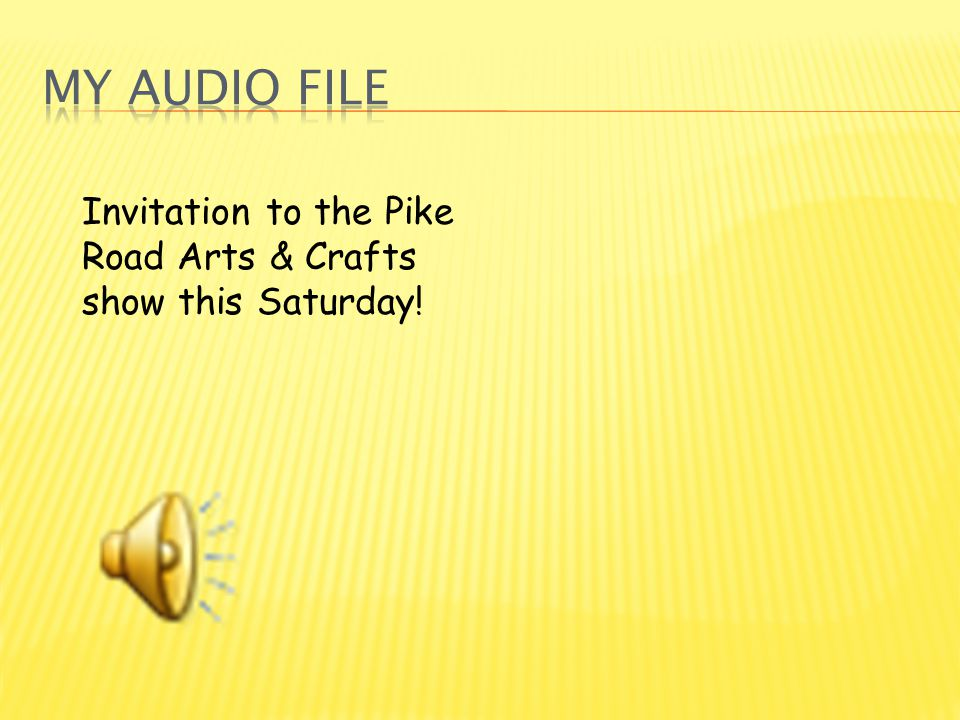 Invitation to the Pike Road Arts & Crafts show this Saturday!