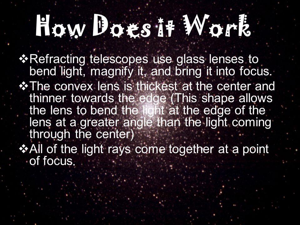 Refracting telescope by angelica cobos u e u e how does it work