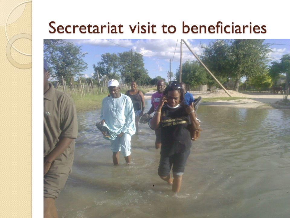 Secretariat visit to beneficiaries