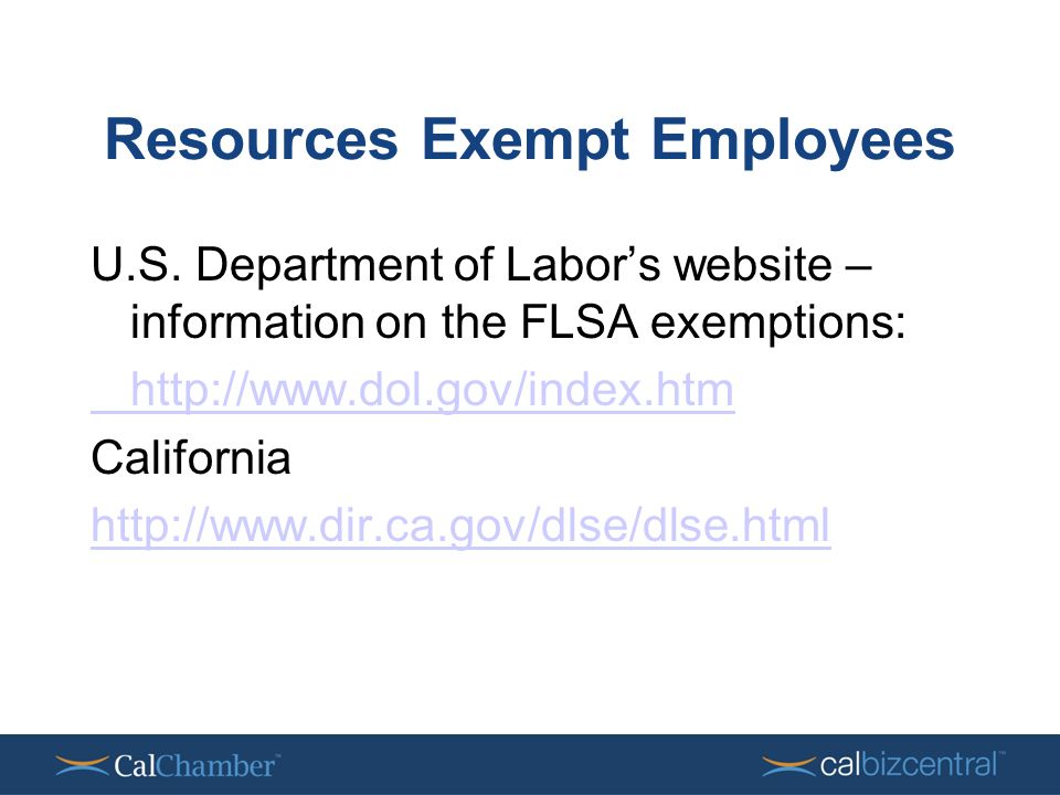 Resources Exempt Employees U.S.