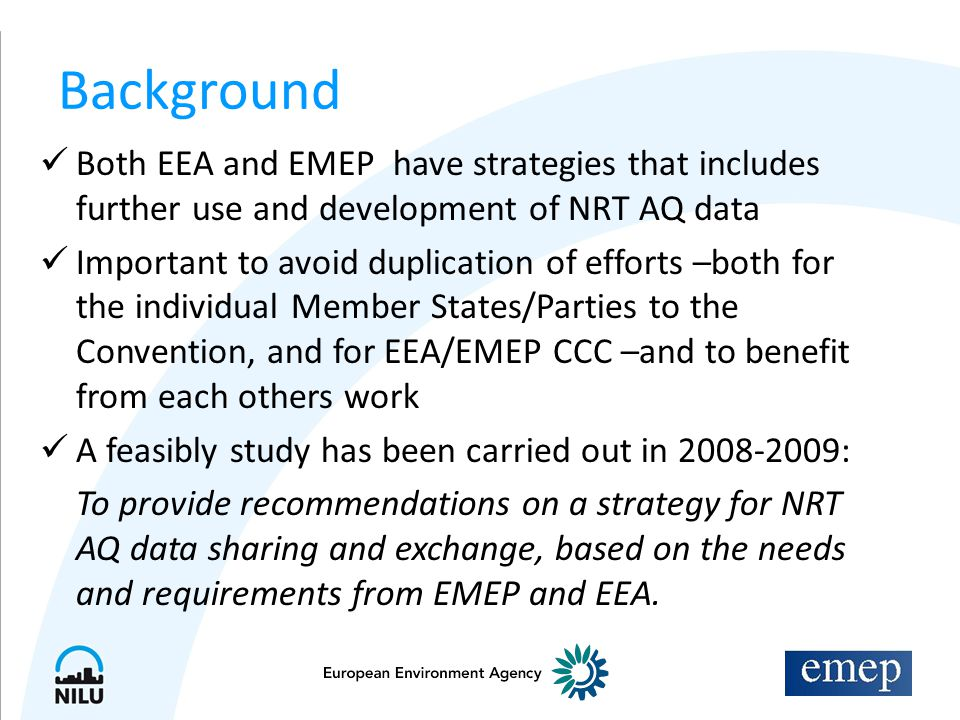 Cooperation of EMEP/CCC and EEA on near real-time air