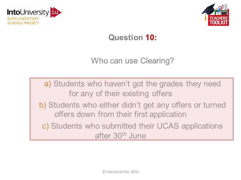 Question 10: Who can use Clearing.