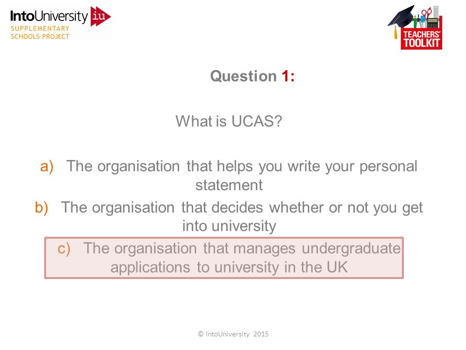 Question 1: What is UCAS.