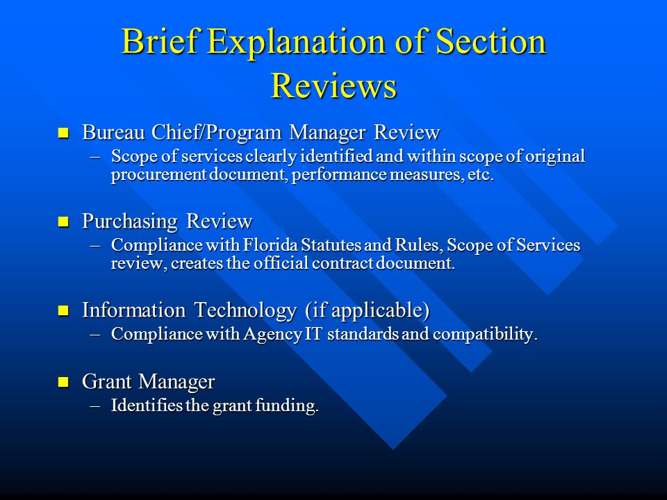 What Reviews are Required Prior to Execution of Same.