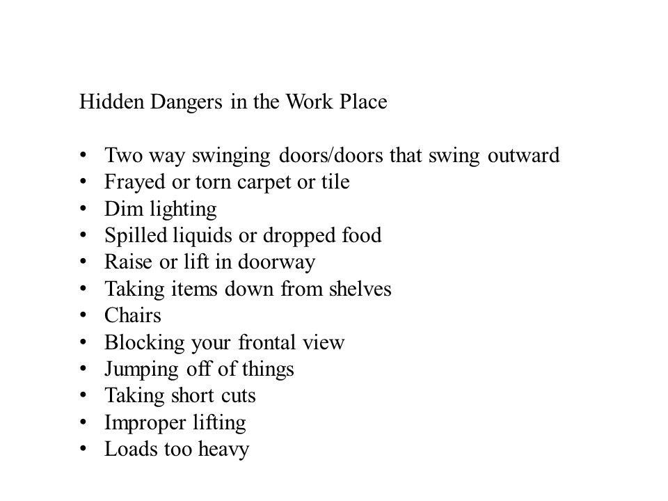 2 Hidden Dangers In The Work Place Two Way Swinging Doors/doors ...