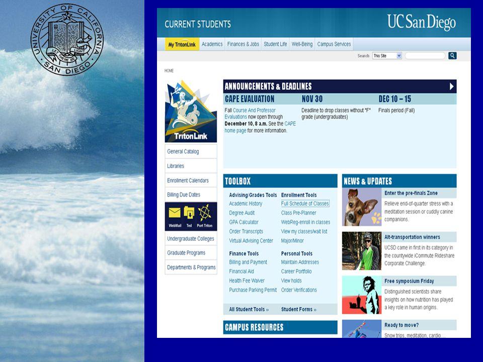 Welcome to UC San Diego! Megan Schuck Academic Advisor