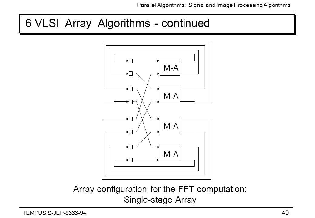 TEMPUS S-JEP Parallel Algorithms: Signal and Image
