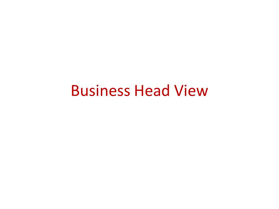 Business Head View