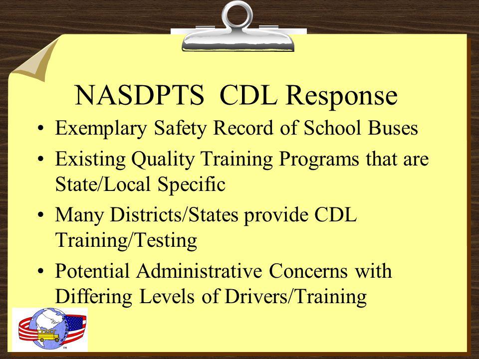 Update from NASDPTS Presented to SESPTC 2009 Charlie Hood