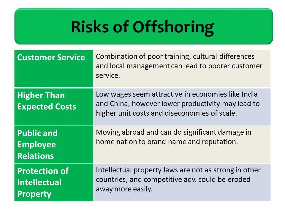 risks of offshore software development