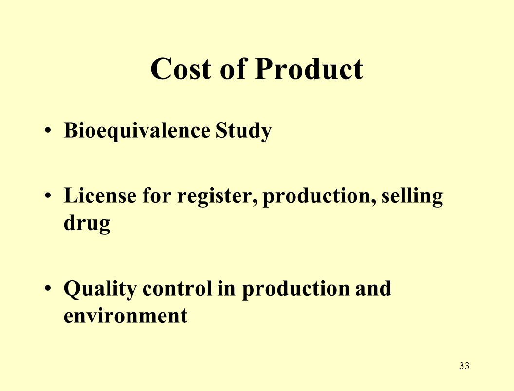32 The effect of FDA on Marketing Cost of product Regulation in Selling