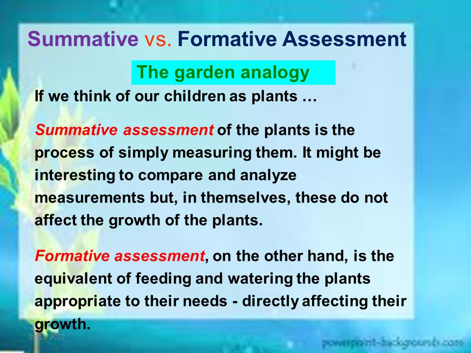 Summative vs.