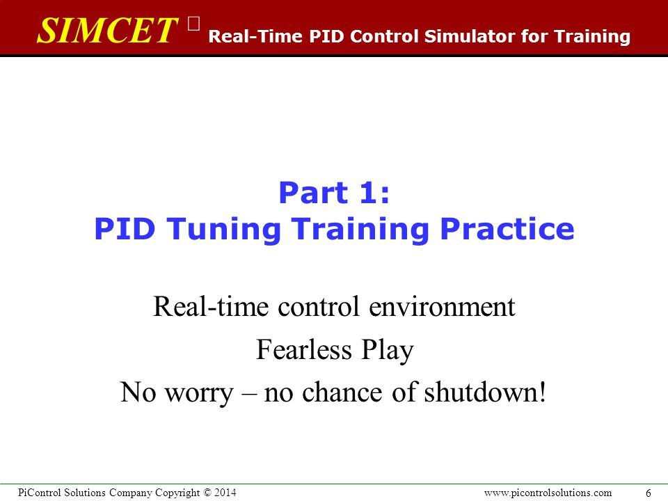 SIMCET  Real-Time PID Control Simulator for Training PID