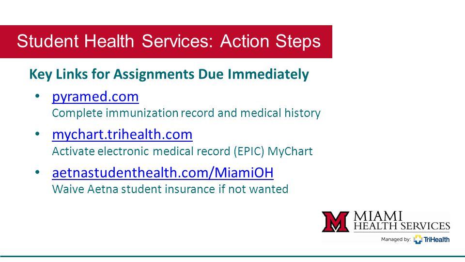 Student orientation student health services health services center