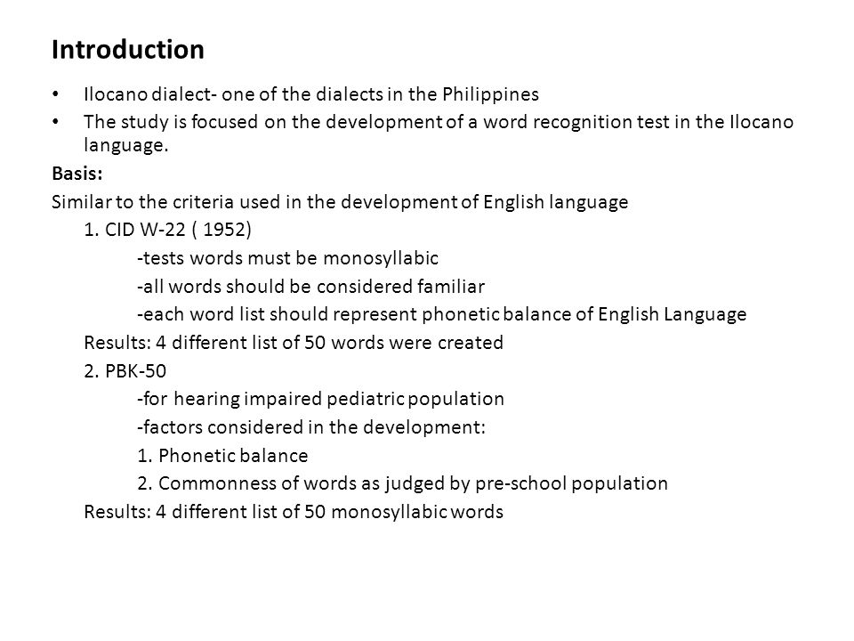 review of the paper entitled the development of a phonetically