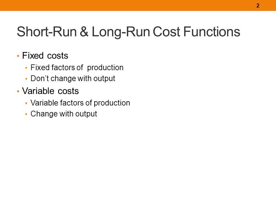 short run and long run cost