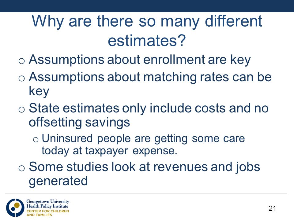 Why are there so many different estimates.