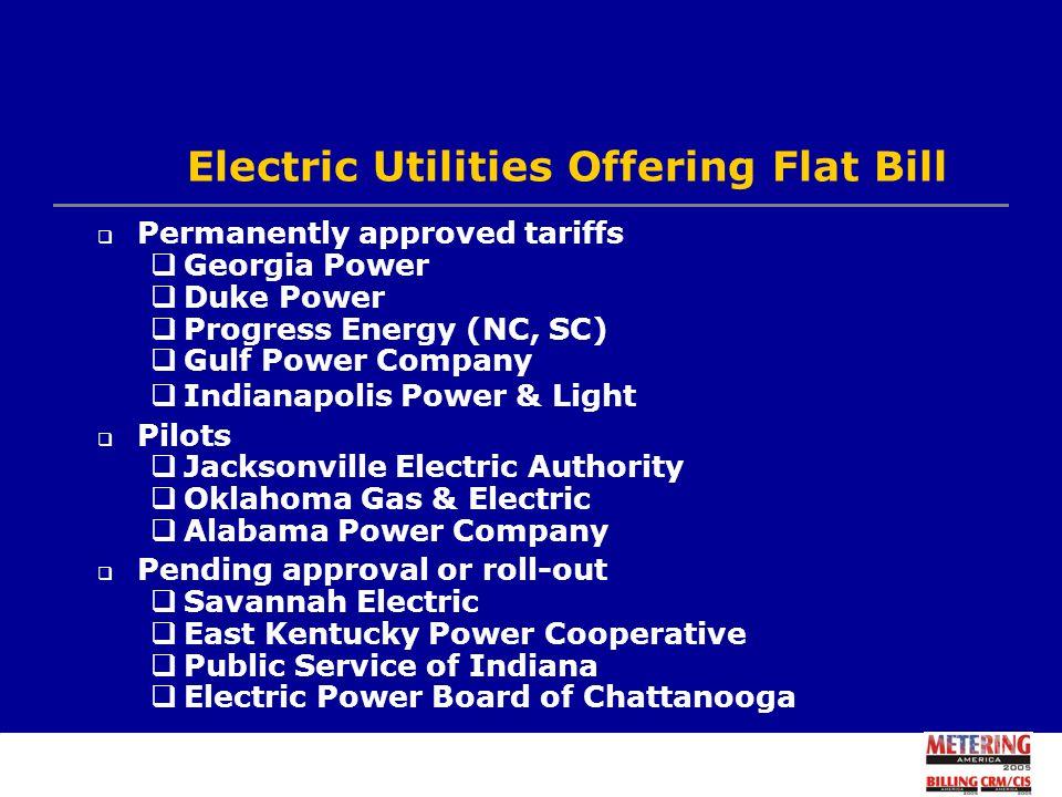 6 Electric Utilities Offering Flat Bill ...