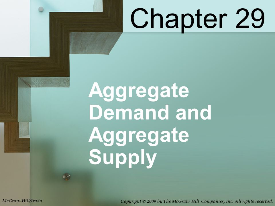 Aggregate Demand and Aggregate Supply Chapter 29 McGraw-Hill/Irwin Copyright © 2009 by The McGraw-Hill Companies, Inc.