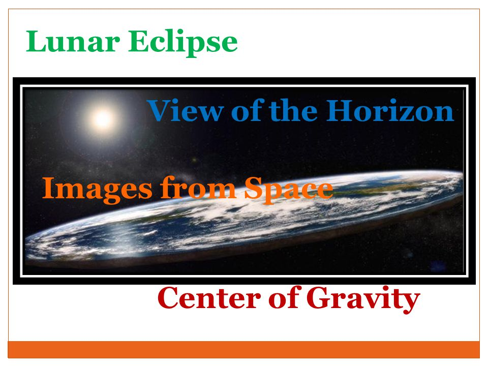 Lunar Eclipse View of the Horizon Images from Space Center of Gravity