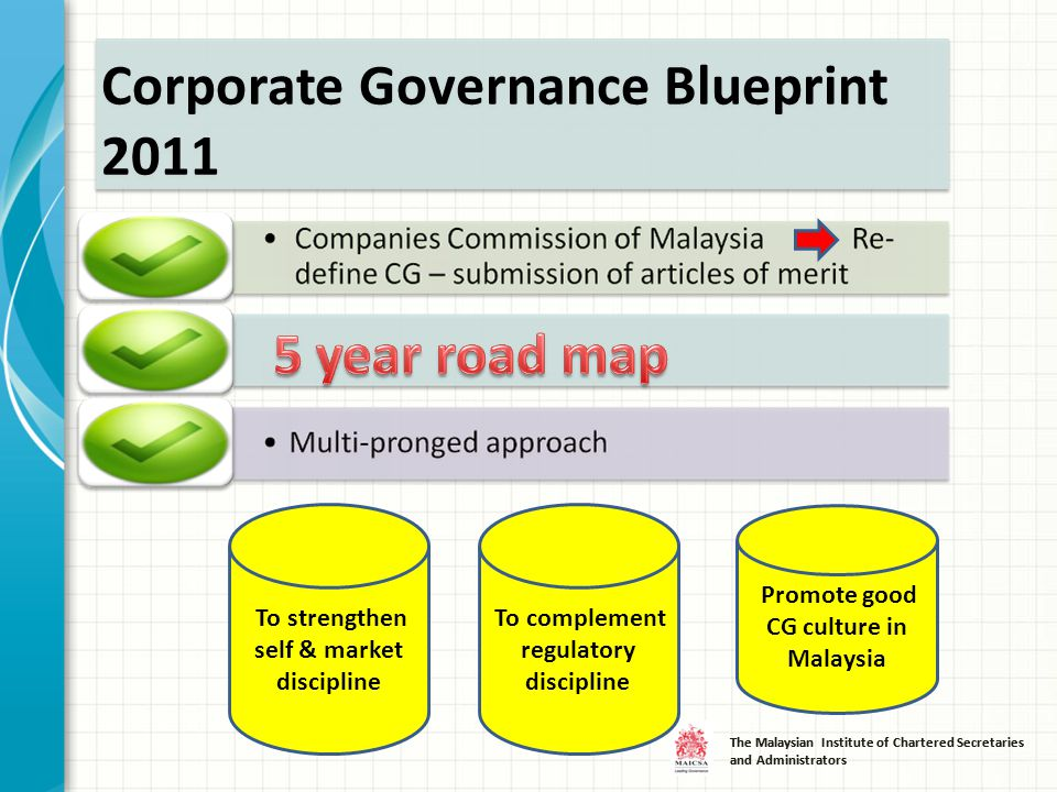 R ecent and f uture d evelopment presented by chua siew chuan deputy 6 the malaysian institute of chartered secretaries and administrators corporate governance blueprint 2011 to strengthen self market discipline to malvernweather Image collections
