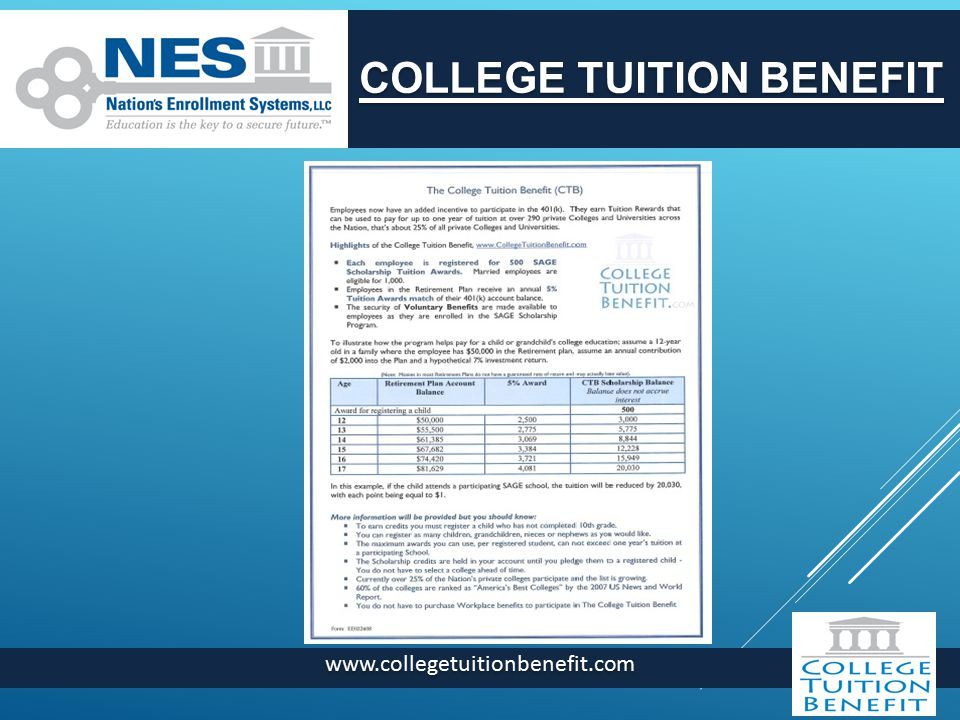 COLLEGE TUITION BENEFIT
