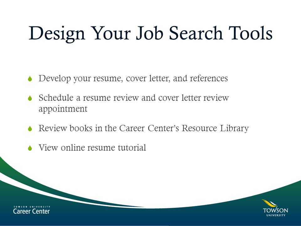 the job search process presented by career towson university 7800