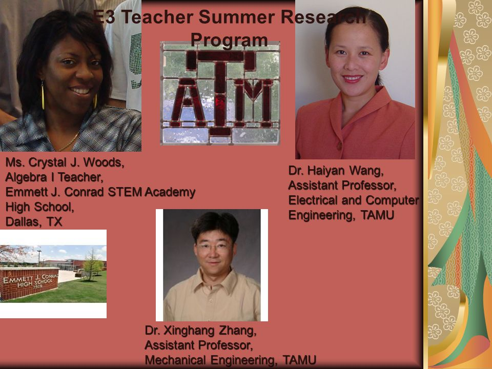 Ms Crystal J Woods Algebra I Teacher Emmett J Conrad Stem