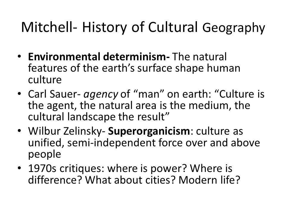 Historical Development of Cultural Geography Stephen