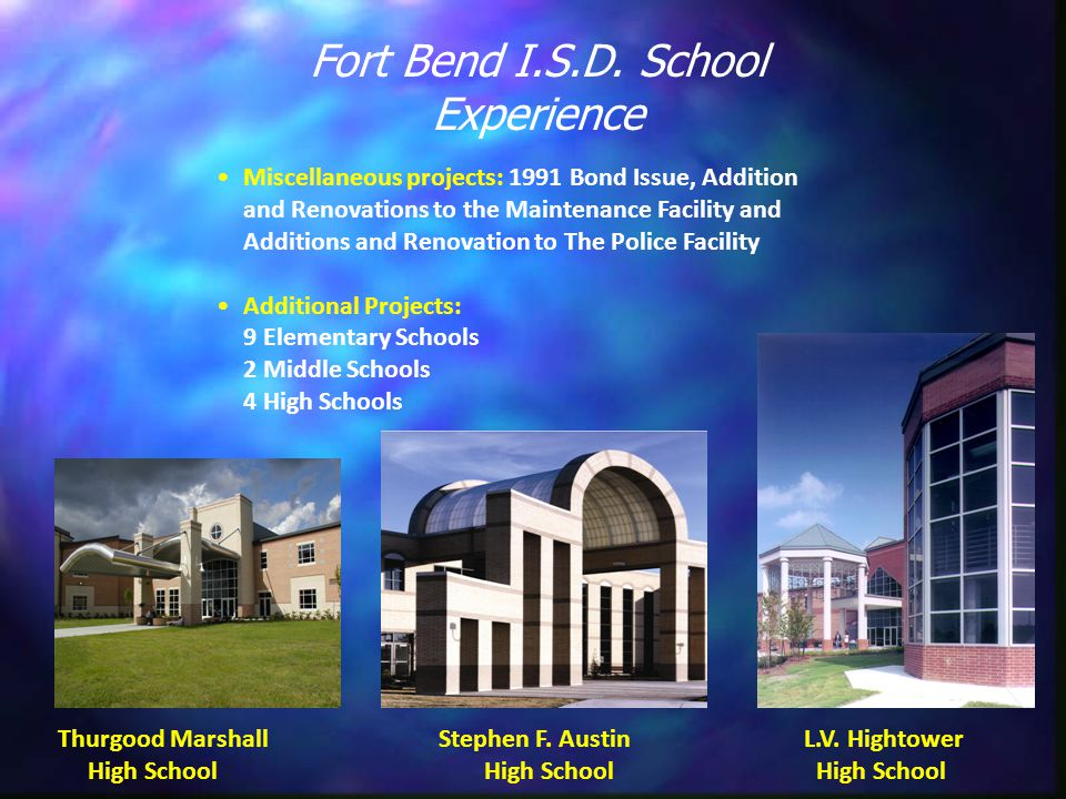 Update to Fort Bend I S D  Design and Construction Standards