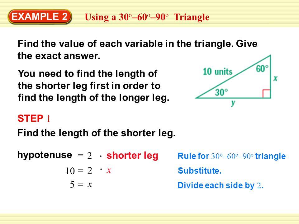Example 1 Using A 45 O 45 O 90 O Triangle Softball The Infield Of