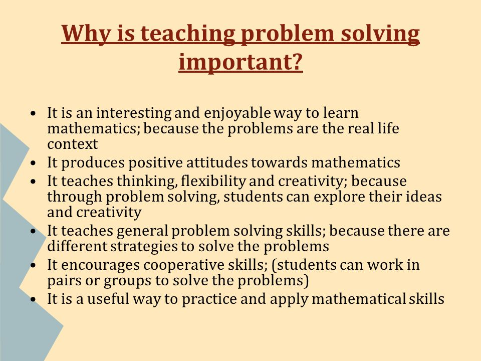 what is problem solving learning