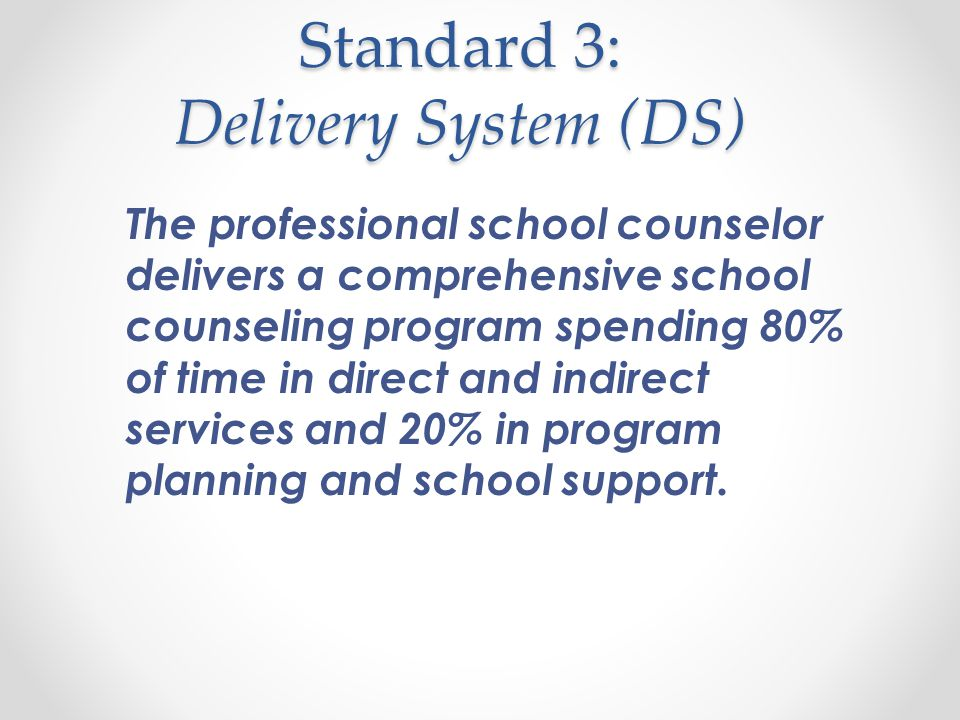 Elements: Foundation (F) F 1 The professional school counselor articulates and demonstrates the beliefs and vision of the school counseling program that is aligned with the school strategic plan.