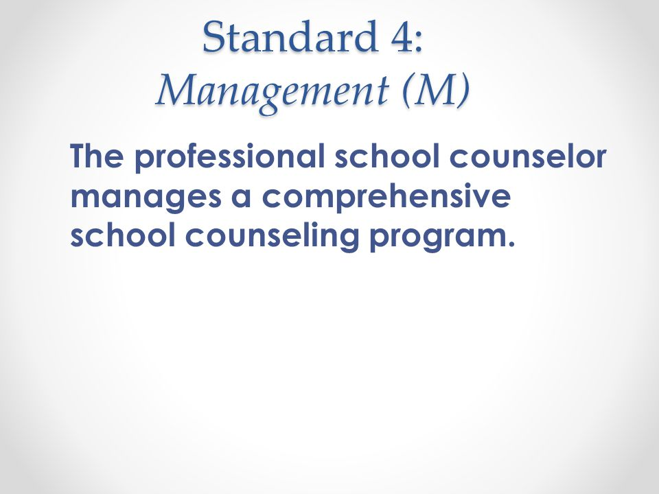 Elements: Delivery System (DS) DS 1 The professional school counselor provides all students with a counseling core curriculum that is comprehensive in scope, proactive in nature, and developmental in design.
