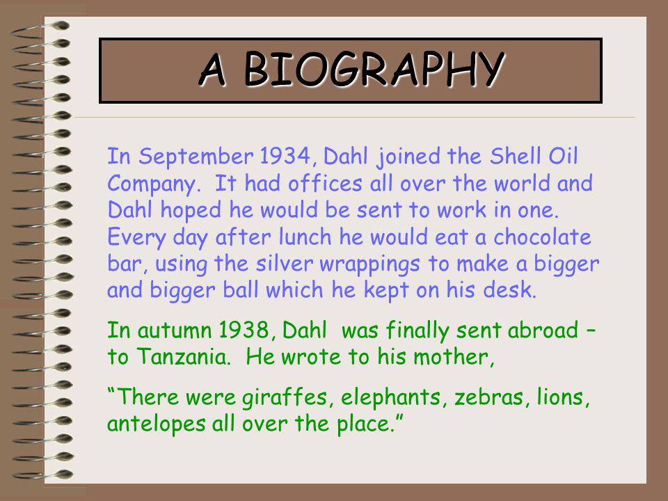 a biography of roald dahl