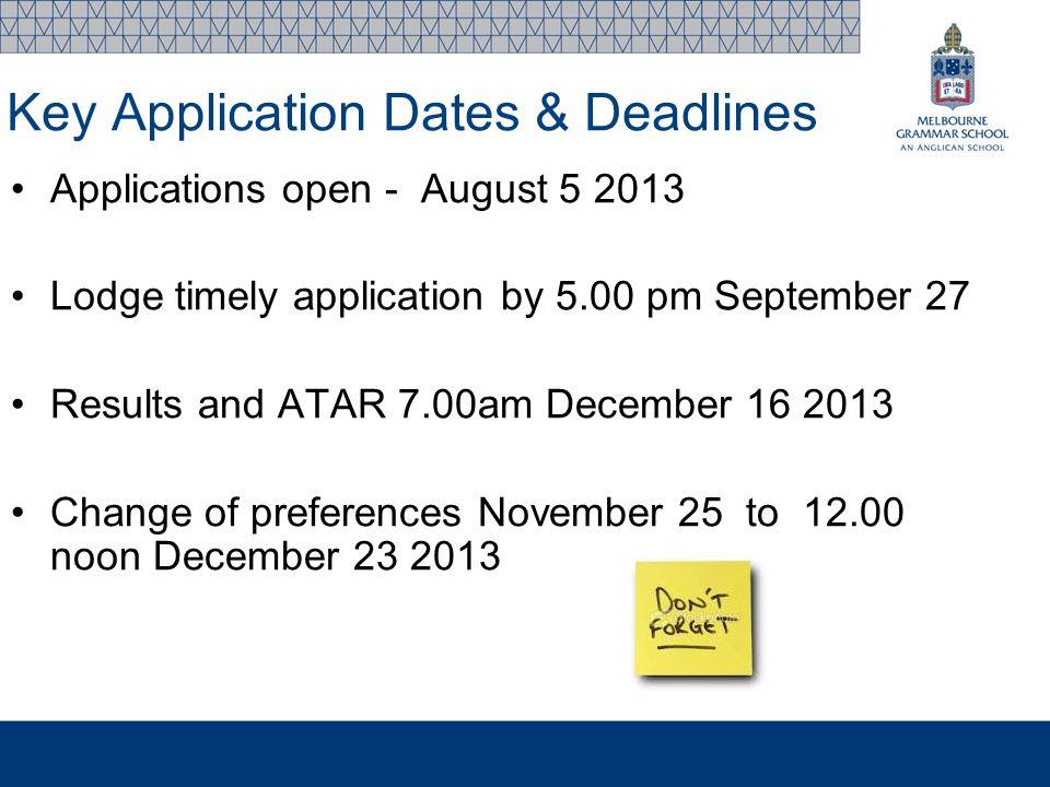 vtac personal statement deadline