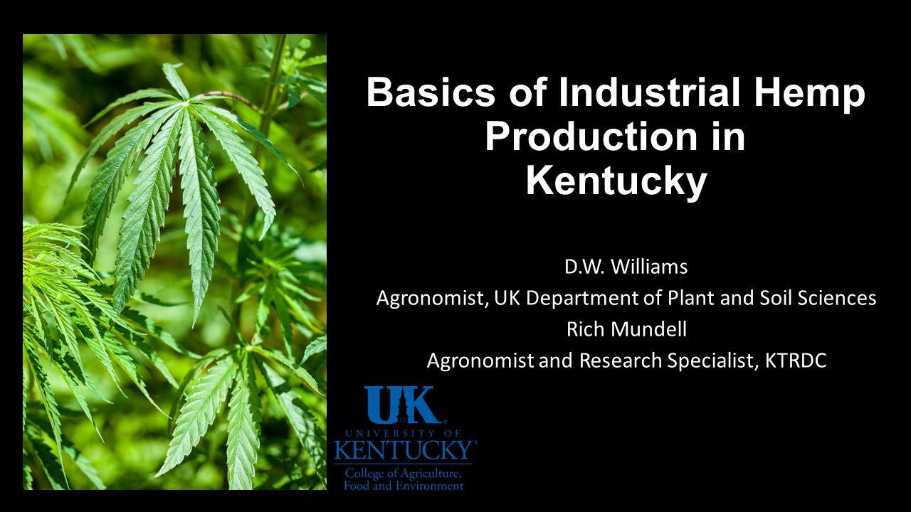 Basics of Industrial Hemp Production in Kentucky D W