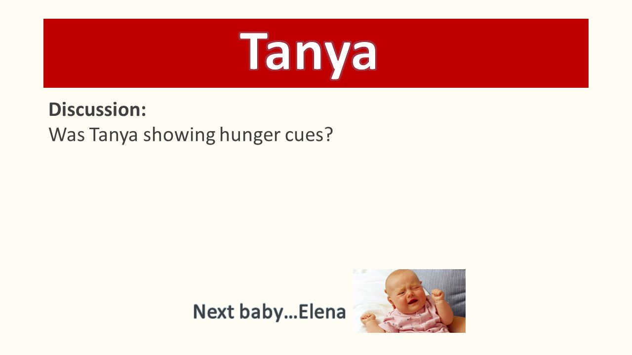 The parent picks up Tanya, checks her diaper, and notices that she has just had a bowel movement.