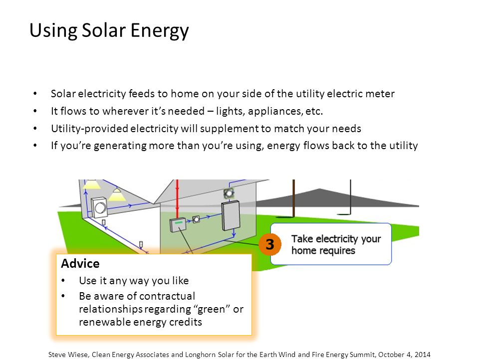 Solar for your home and business earth wind and fire energy summit using solar energy steve wiese clean energy associates and longhorn solar for the earth wind ccuart Choice Image