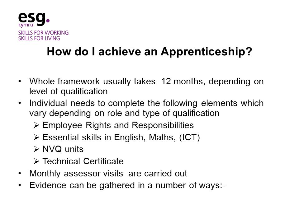 How do I achieve an Apprenticeship.