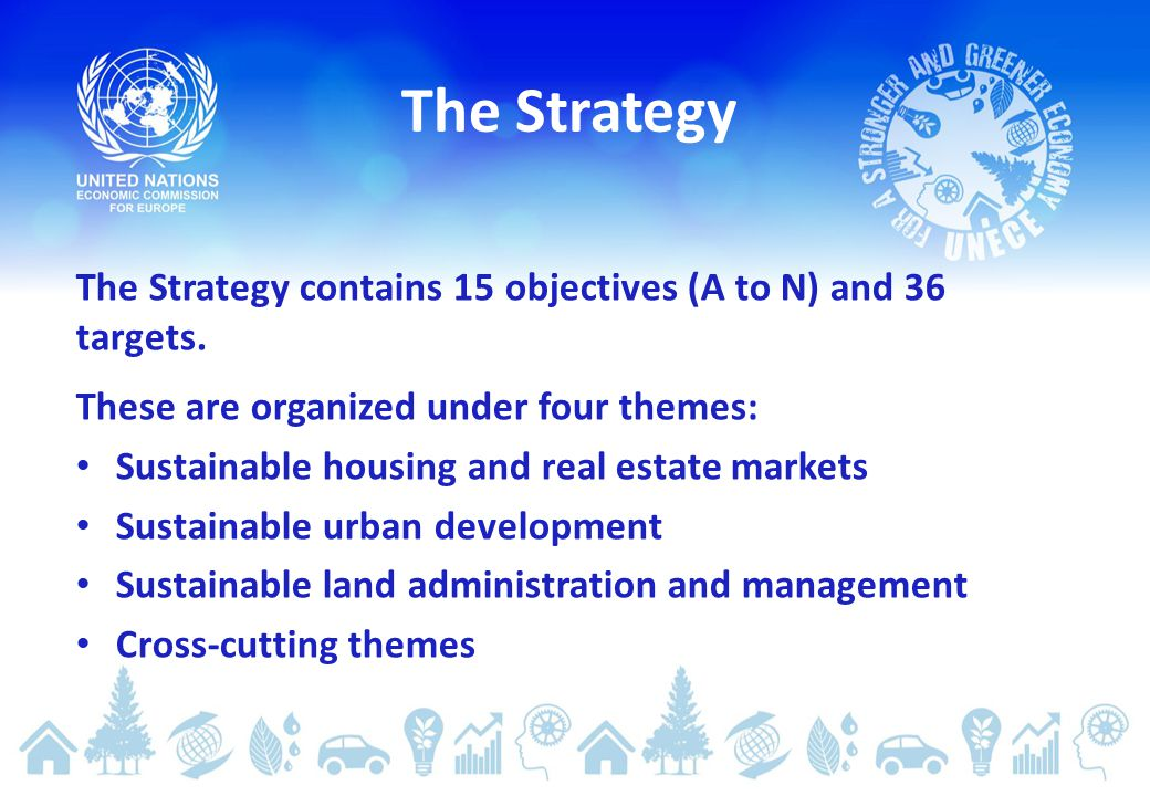 The Strategy contains 15 objectives (A to N) and 36 targets.