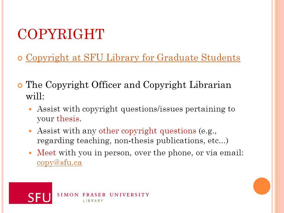 sfu thesis librarian