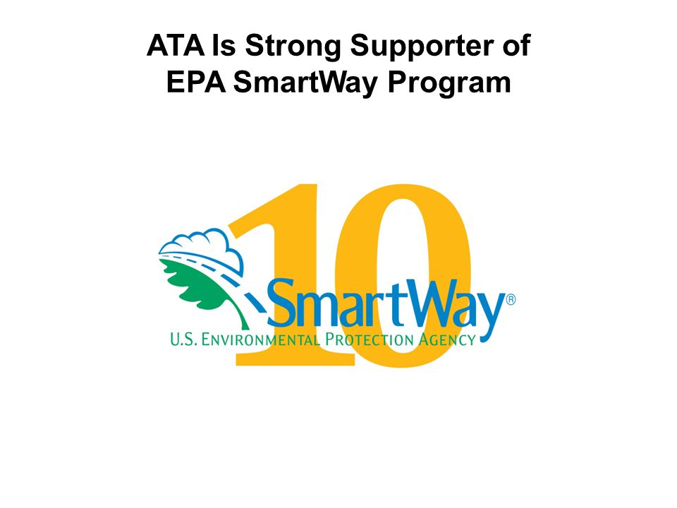 ATA Is Strong Supporter of EPA SmartWay Program