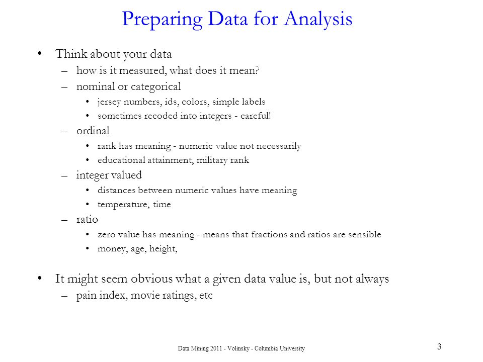 Chapter 3 Data Mining Concepts: Data Preparation and Model