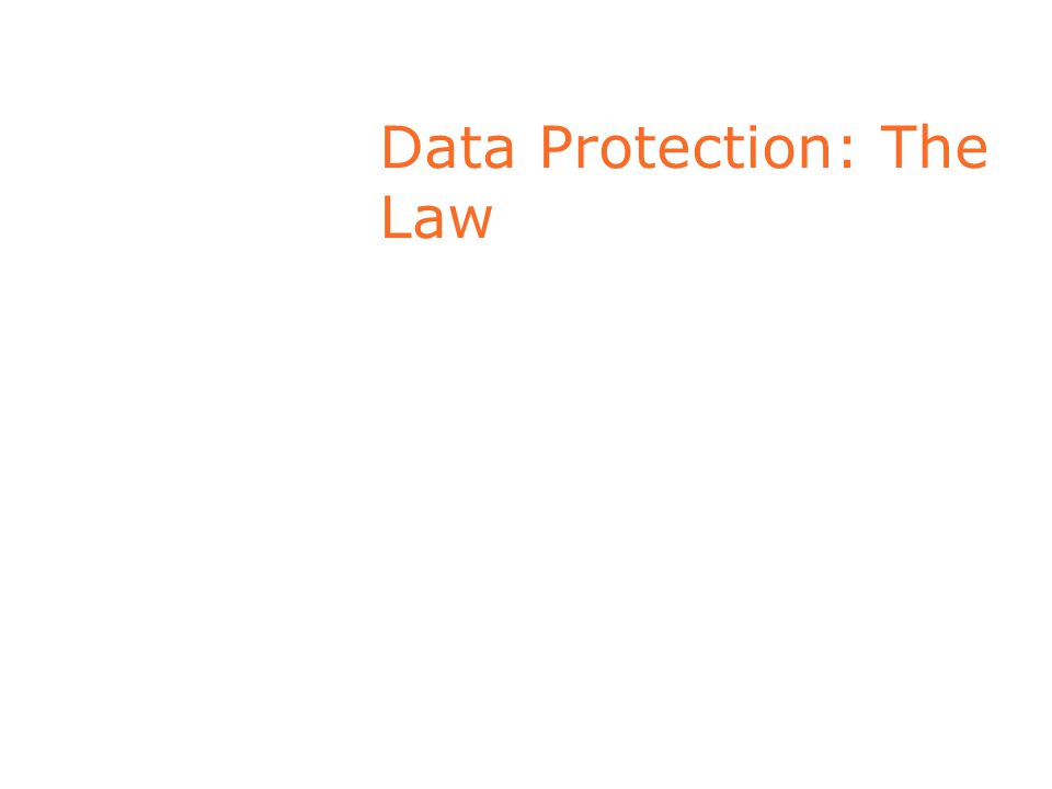 Data Protection: The Law