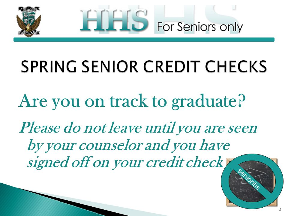 Are you on track to graduate.
