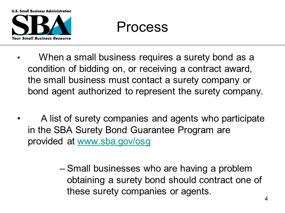 Office of Surety Guarantees Surety Bond Guarantee Program 24 March