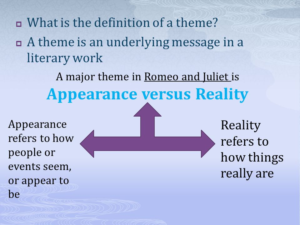 major themes in romeo and juliet