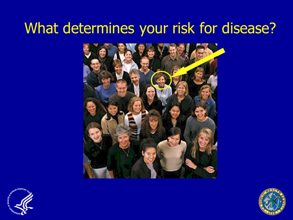 What determines your risk for disease