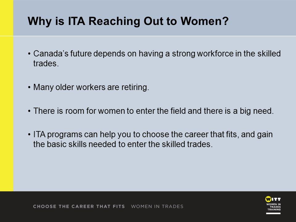 Why is ITA Reaching Out to Women.